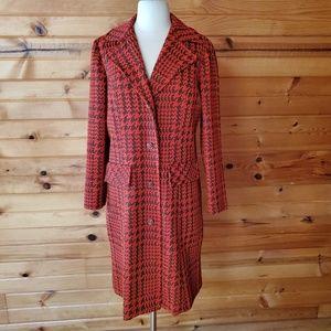 1970s Marty Gutmacher Orange & Brown Coat